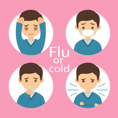 Health issues like cold or flu